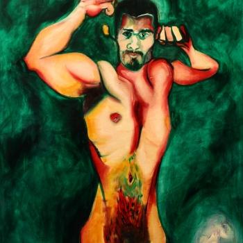 Аполон, уље на платну, Apollo, oil on canvas, 110х130cm, 2018