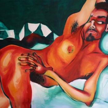Мали враголан, уље на платну, A little imp, oil on canvas,100х150cm, 2018